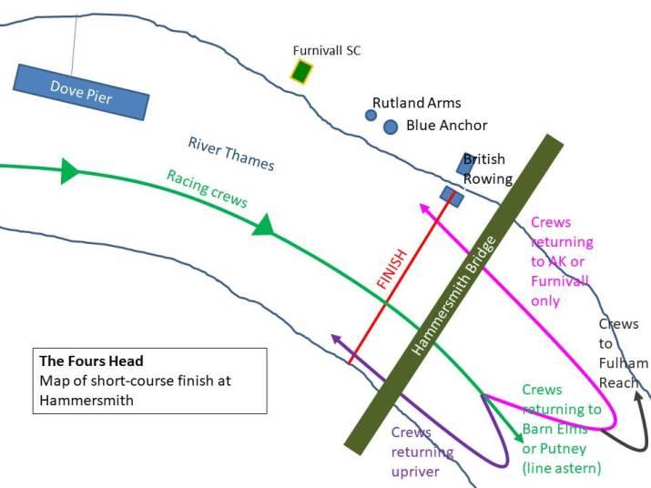 Fours Head Hammersmith Fiish map